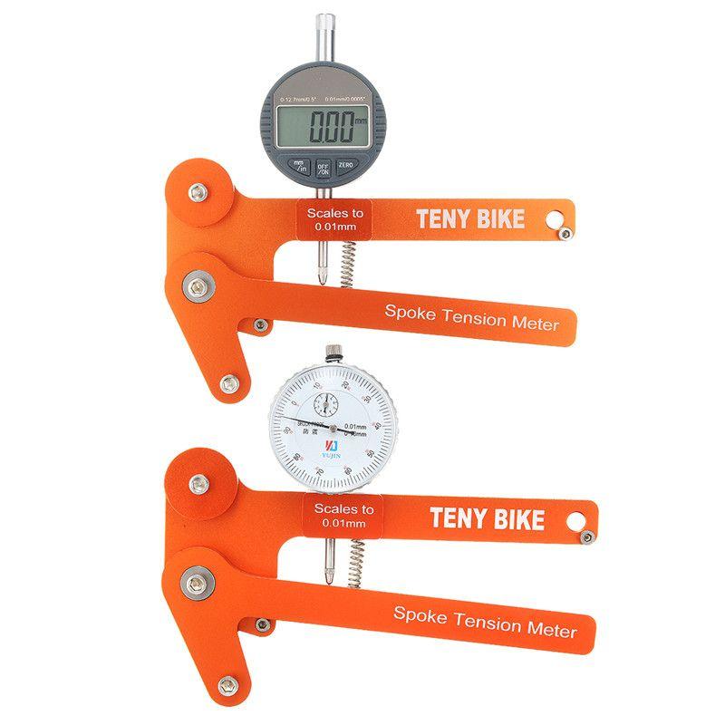 New Arrival Digital Scale 0.01mm Bike Indicator Attrezi Meter Tensiometer Bicycle Spoke Tension Wheel Builders Tool