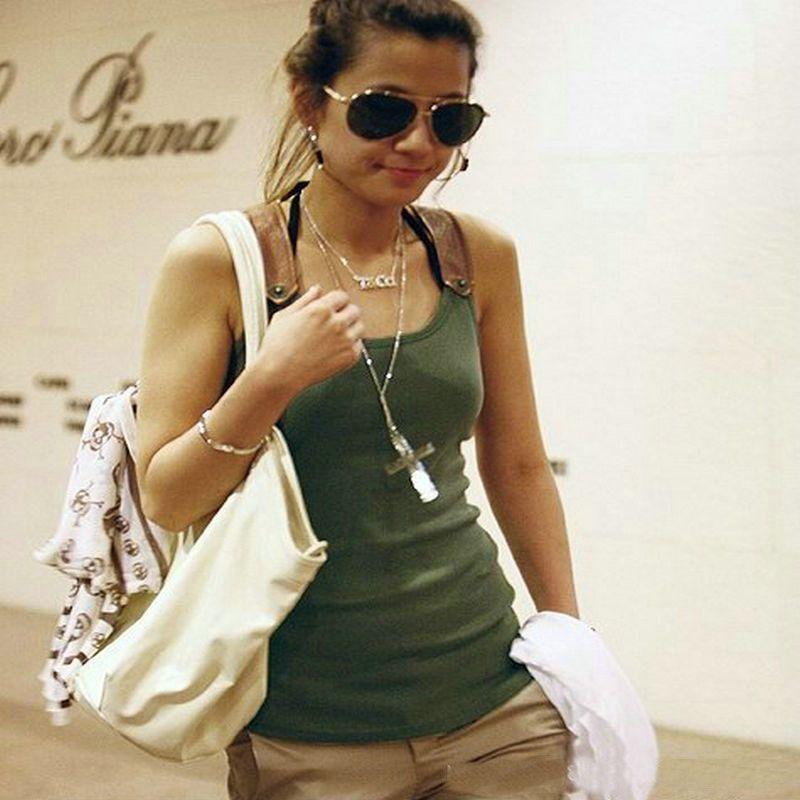 Réservoir Tops Blusas De Mode Femmes Blouse Camisole Débardeur D'été Sans Manches T-shirt Top Femmes Coton Gilet Réservoirs NB07