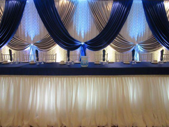 10ft x 20ft royal blau mit silber Hochzeit hintergrund bühne dekoration hintergrund schleier hochzeit dekoration