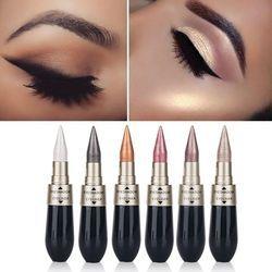 1 Pcs Double-fin 2-en-1 Nacré Lueur Étanche Fard À Paupières Noir Eye-Liner Stylo À Séchage Rapide Femmes Eye Beauté Maquillage cosmétique