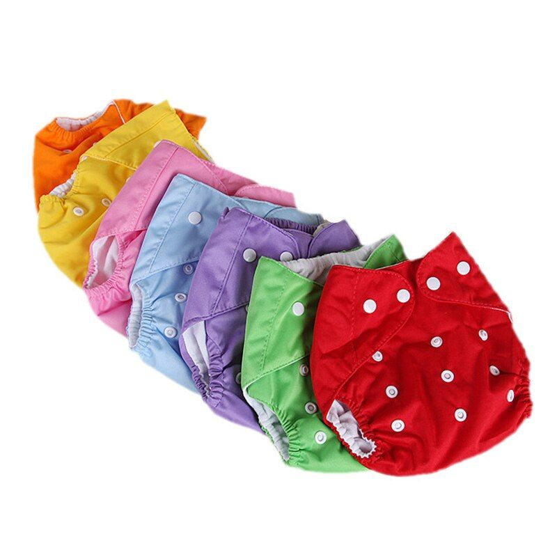 Baby Cloth Diaper Baby Nappy Washable Adjustable Cloth Nappy Reusable Diaper Inserts Cover Wrap Insert Print Infant Nappy