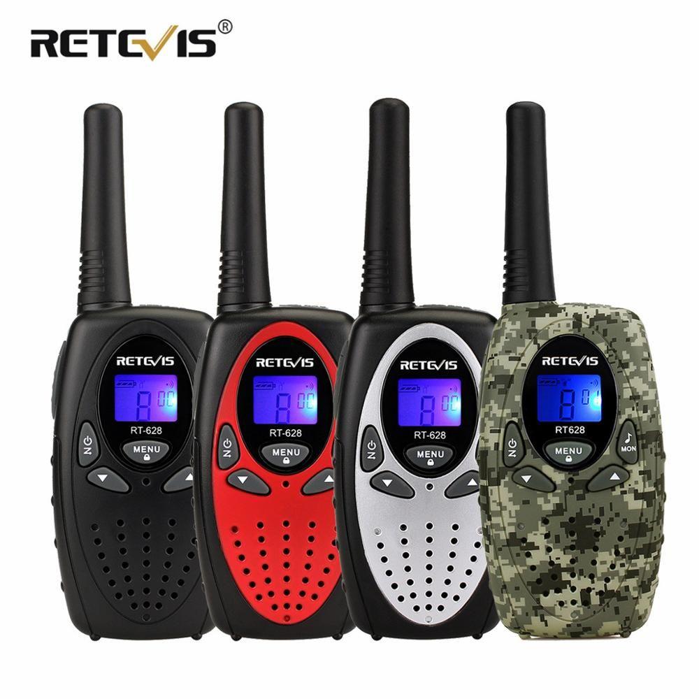 2 pièces rechape RT628 Mini talkie-walkie enfants PMR Radio 4 couleurs 0.5 W 8/22CH PMR PMR446 FRS/GMRS VOX 2 voies Radio cadeau jouet marche parler
