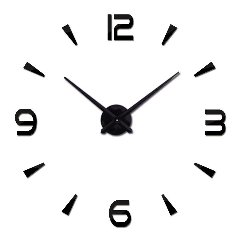 2017 Горячее предложение настенные часы современный Дизайн Часы кварцевые часы иглы акриловые зеркало DIY Стикеры 3D Наклейки Гостиная Бесплат...