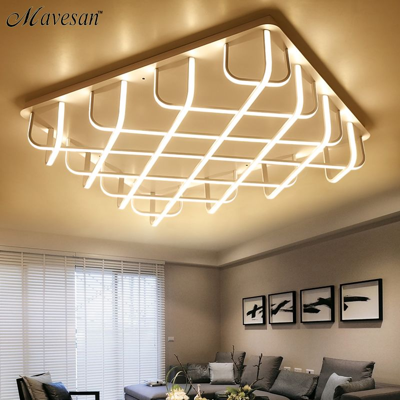 New Acrylic modern led ceiling lights for living room Bedroom Aluminum White AC85-265V Home Ceiling Lamp luminarias para sa