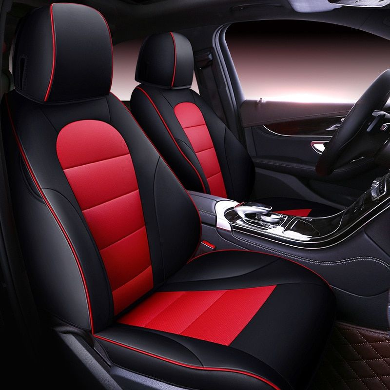 Custom automobiles Cowhide leather Car seat cover For auto mercedes GLC bmw f10 e30 renault logan Car accessories car styling