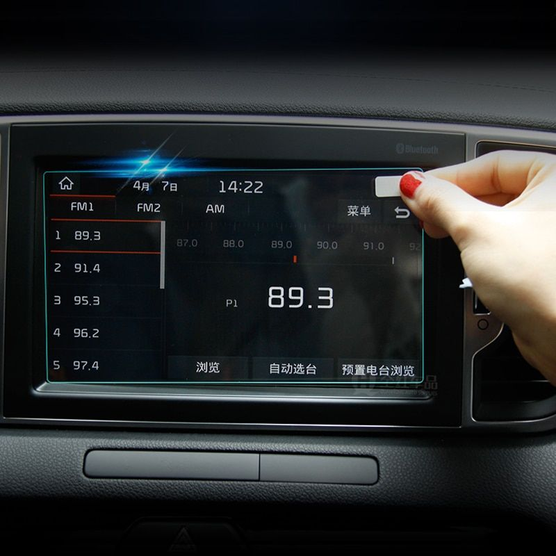 Pour Kia Sportage 4 2016 2017 2018 2019 GPS Navigation écran en acier matériel de protection Film LCD écran Film autocollant accessoires