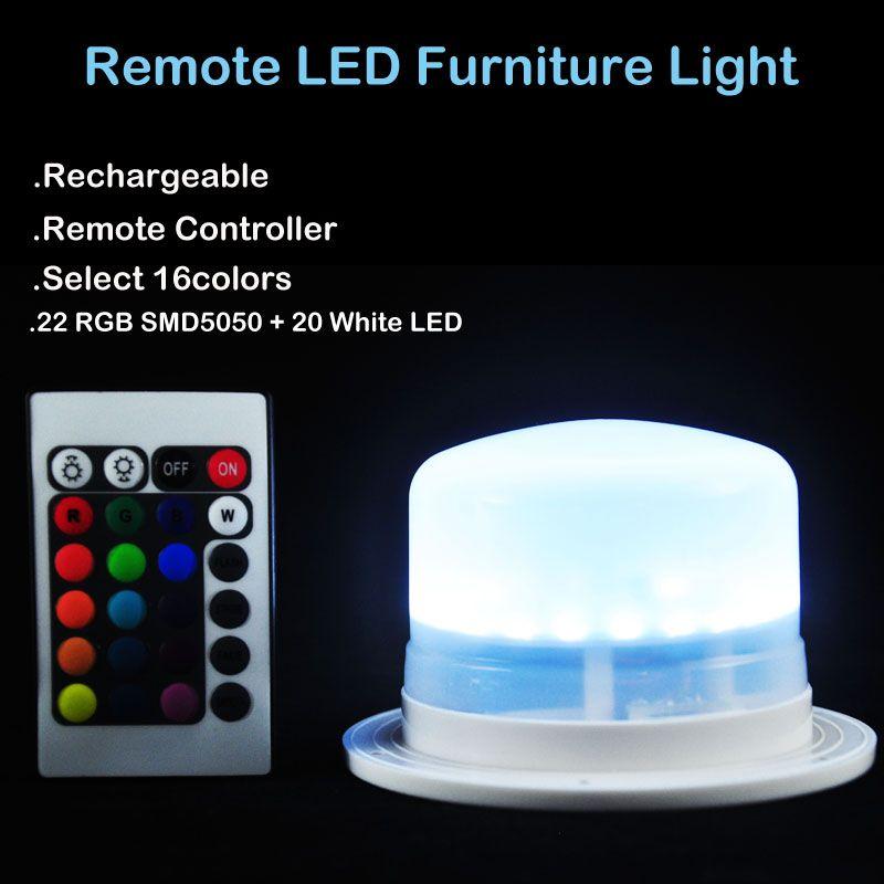 1 Pc * lampe de lumière led waterproof de Base Rechargeable pour les meubles menés sous l'éclairage de table pour la décoration à la maison de noce
