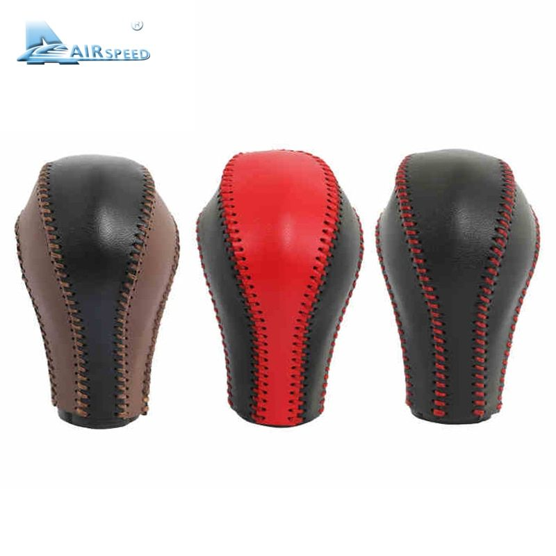 Airspeed leather gear shift knob handle Cowhide Cover Hand-sewnFor Infiniti QX50 QX70 QX80 EX FX G Interior Accessories