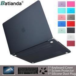 Чехол для ноутбука apple Macbook Air Pro retina 11 12 13 15 матовый чехол для macbook Новый Air Pro Touch Bar ID клавиатура крышка