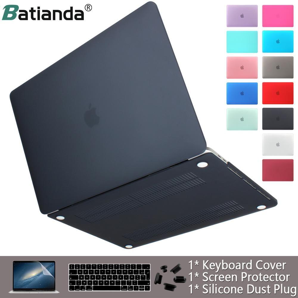 Housse pour ordinateur portable pour apple Macbook Air Pro Retina 11 12 13 15 finition mate housse pour macbook New Air Pro Touch Bar ID housse de clavier
