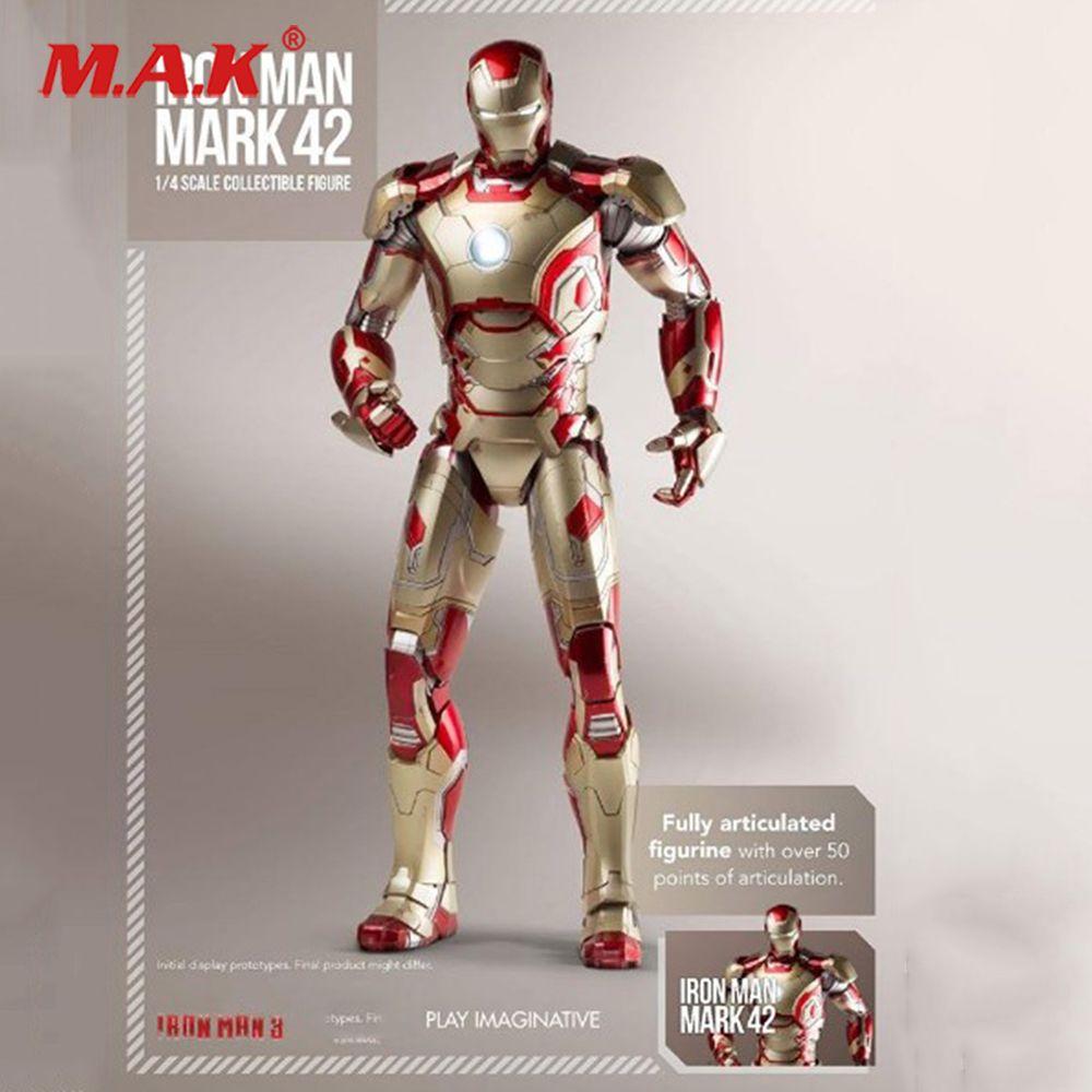 1/4 skala Spielen Imaginative Super Legierung Iron Man Mark 42 Sammlung Abbildung