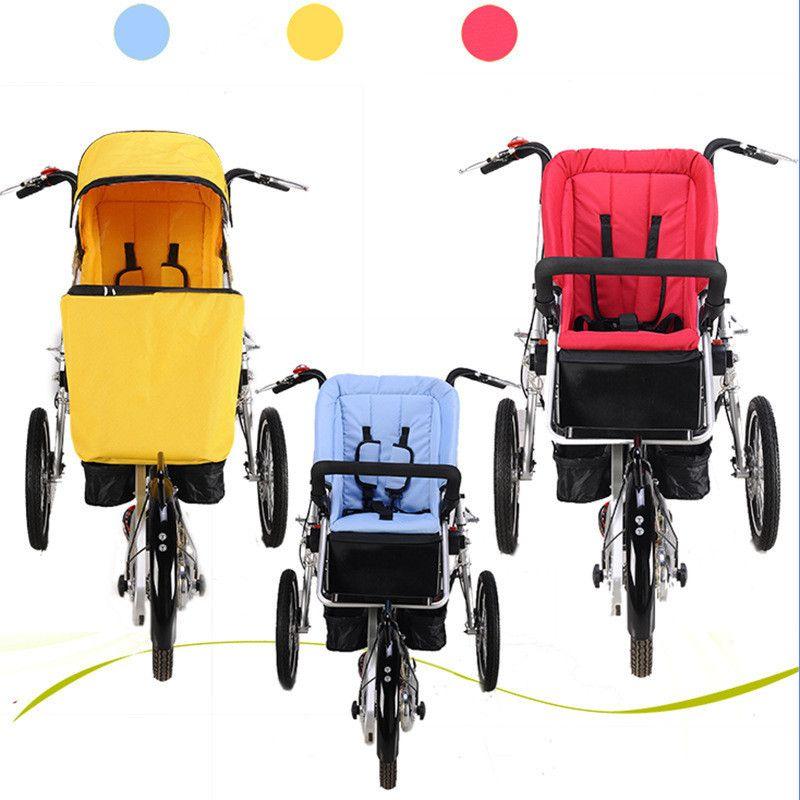 Marke Taga Fahrrad Ähnliche Mutter Und Baby Auto Fahrrad Kinderwagen Eltern-kind Twins Fahrrad Kinderwagen Faltbare Baby Trolley
