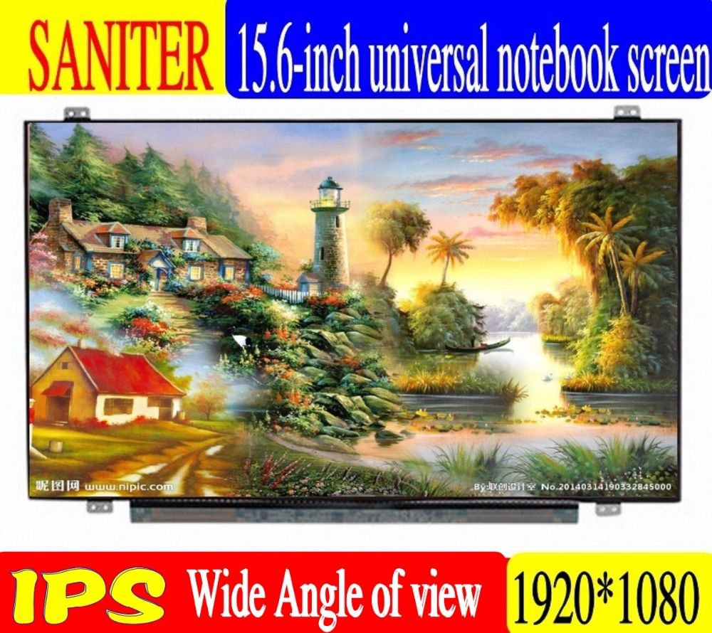 SANITER Apply to B156HAN01.2, NV156FHM-N43, LTN156HL01, LP156WF6, SPB1, 72NTSE color gamut
