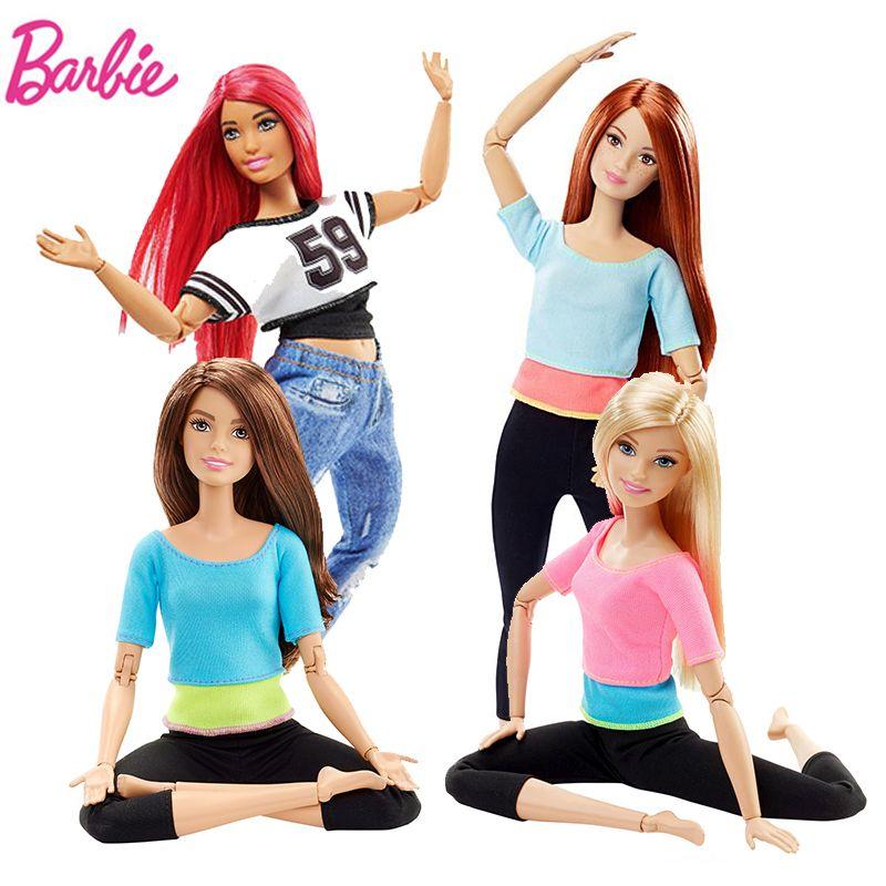 Original Barbie Poupée De Yoga Gymnas Musique American Girl Poupées Joints Mouvement Style Jouets Pour Enfants La Fille Un Anniversaire Bonecas