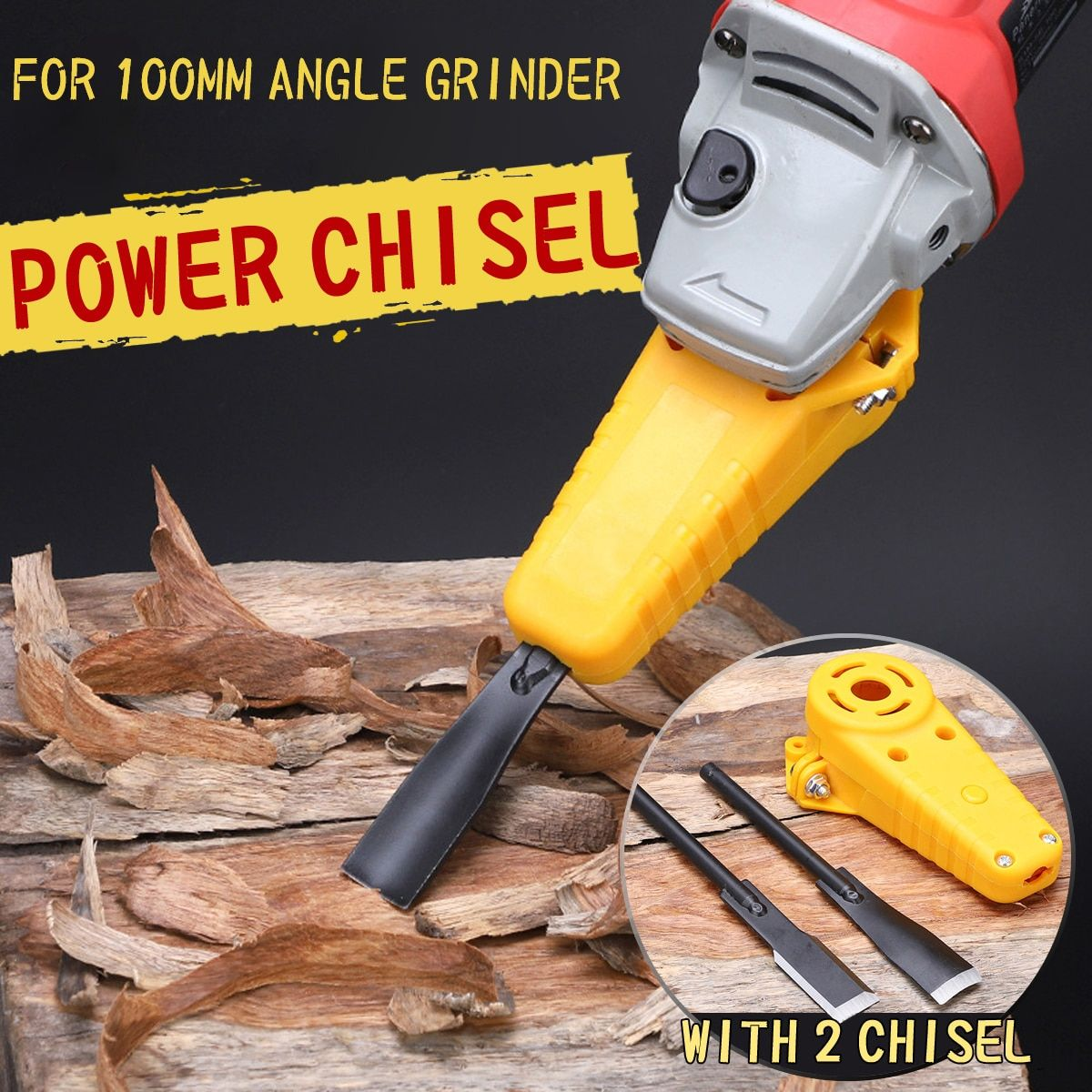 Drillpro Wood Carving Electric Chisel M10 Adapter Set Changed 100 Angle Grinder Into Power Chisel Woodworking Tool
