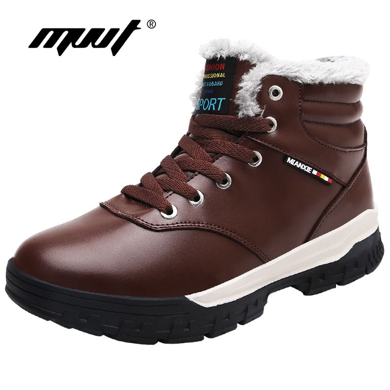Plus Size Winter Men Boots Fashion Casual Winter Shoes Keep Warm Fur Snow Boots For Men Height Increasing Platform Boots