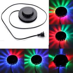 Звуковая активация центру НЛО светодио дный музыка Лазерная этап КТВ бар вечерние свадебные клуб проектор вечерние свет 8 Вт 220 В ЕС Plug