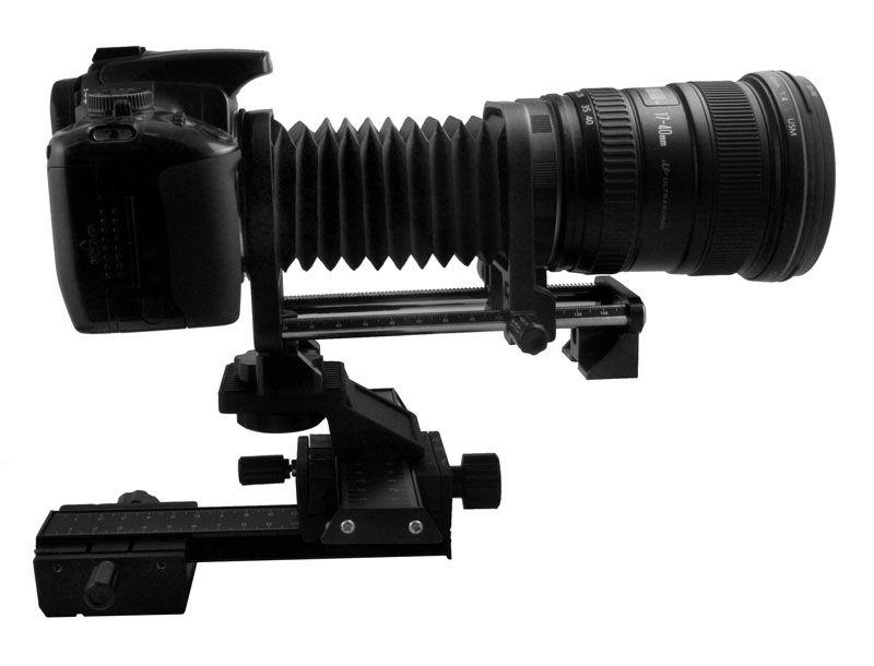 Soufflet d'extension Macro pour appareil photo reflex numérique Canon + glissière de mise au point Macro 4 voies