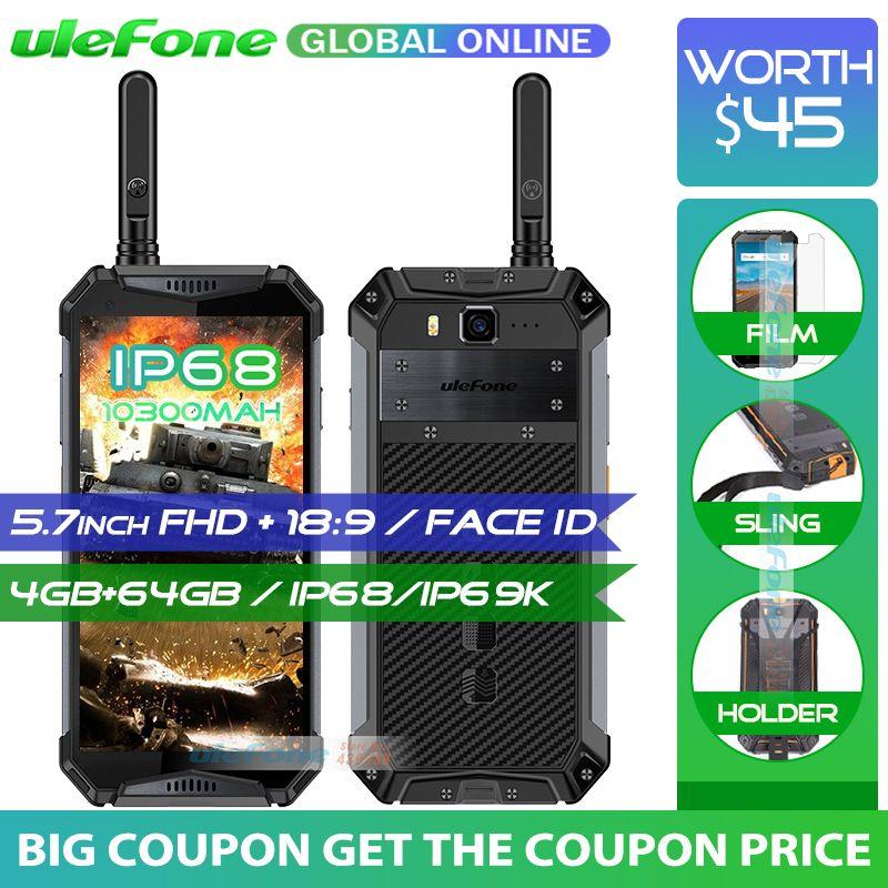 Ulefone Rüstung 3 t 10300 mah IP68/IP69K Wasserdichte Handy helio P23 5,7