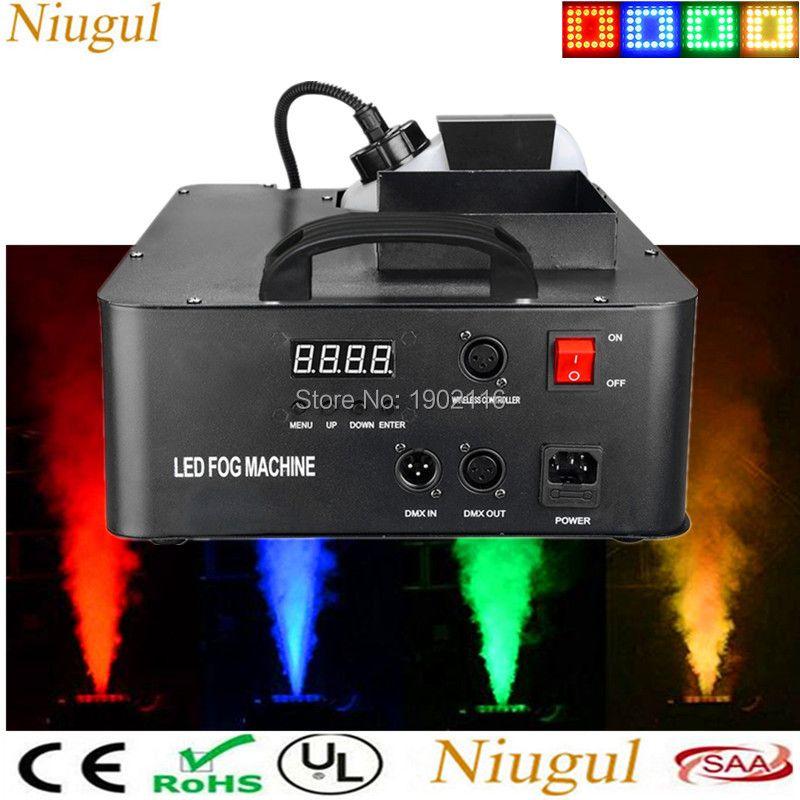 1500W Mist Haze Machine 2.5L Fog Machine With 24X3W RGB LED Light , DMX512 And Wireless Remote Control LED Smoke Machine Fogger