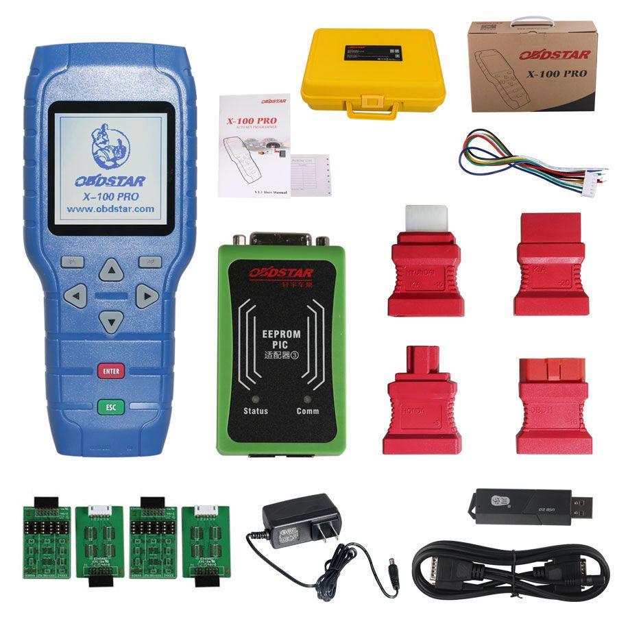 OBDSTAR X100 PRO x-100 Profis Auto Schlüssel Programmierer (C + D) Typ für WEGFAHRSPERRE Entfernungsmesser-korrektur OBD Software