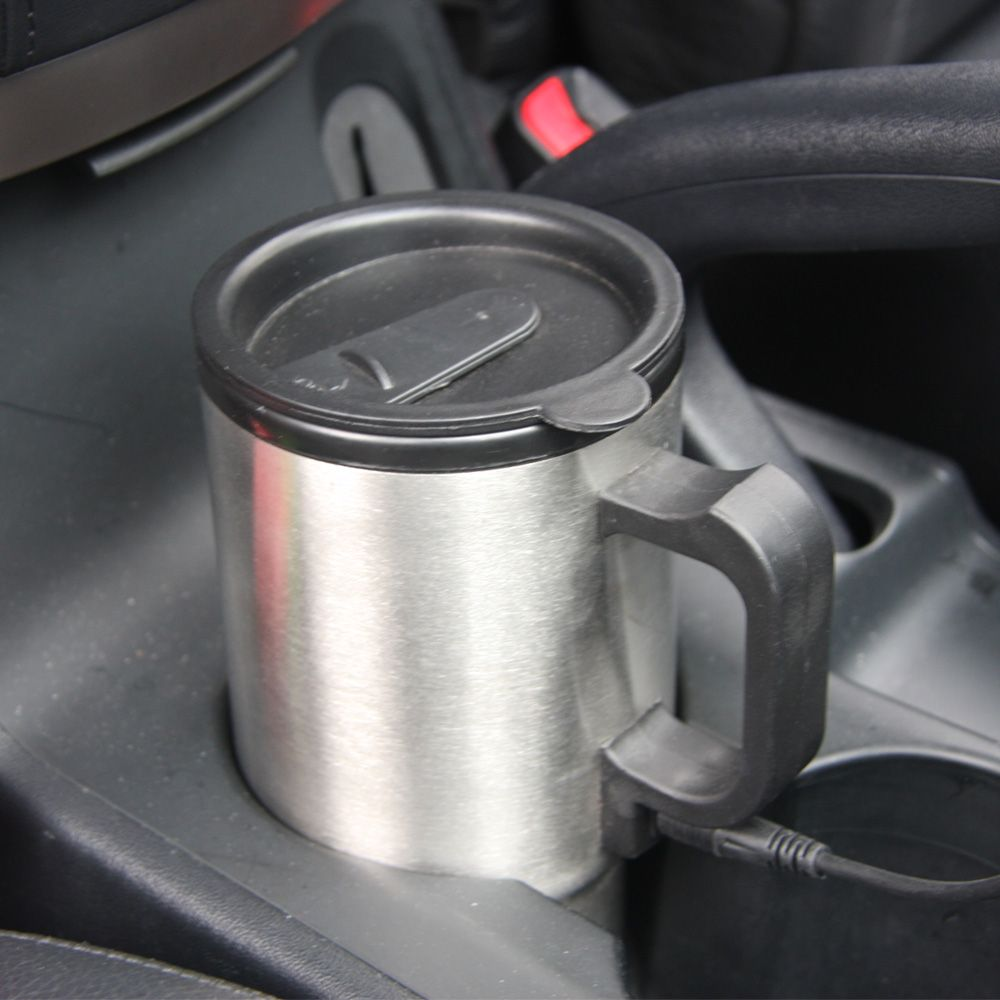 Car Style 450ml 12V Auto Car Heating Cup Stainless Steel Coffe Tea Water Heater Cigarette Lighter Adapter for Cars T16368