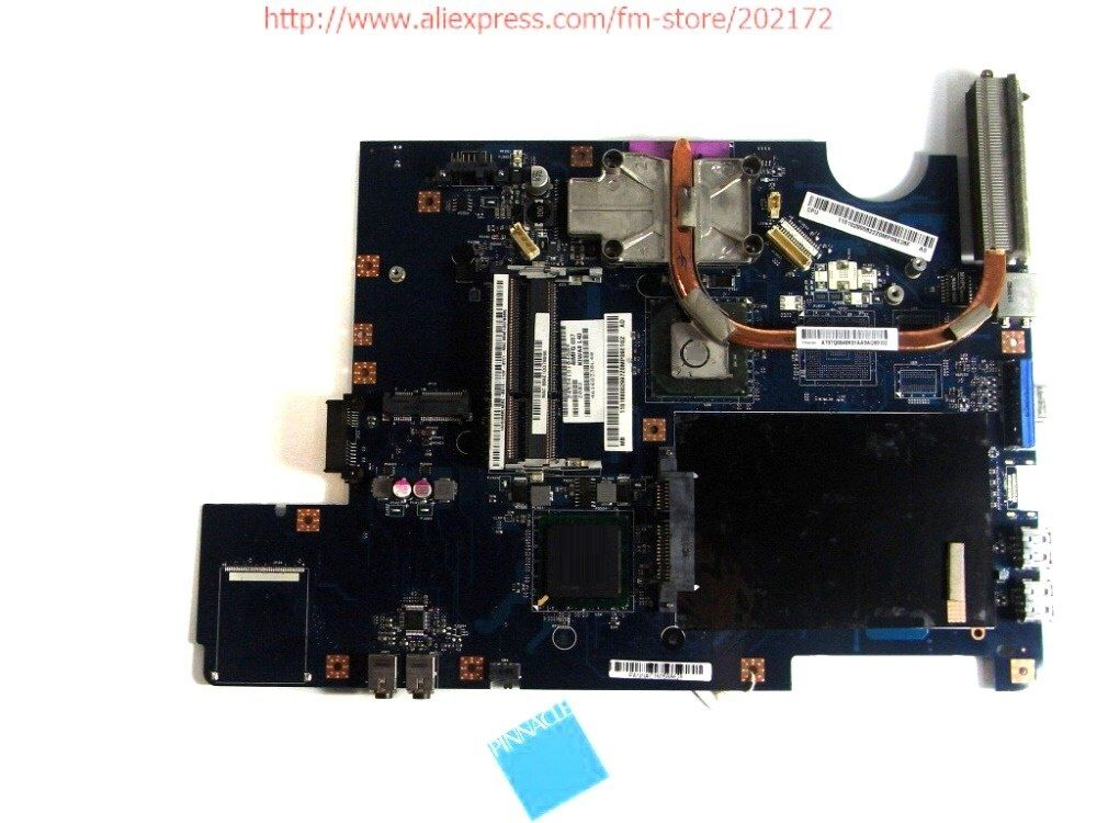 168002997 Motherboard for Lenovo G550 LA-5082P with heatsink instead G555 LA-5972P 100% compatible and a free CPU