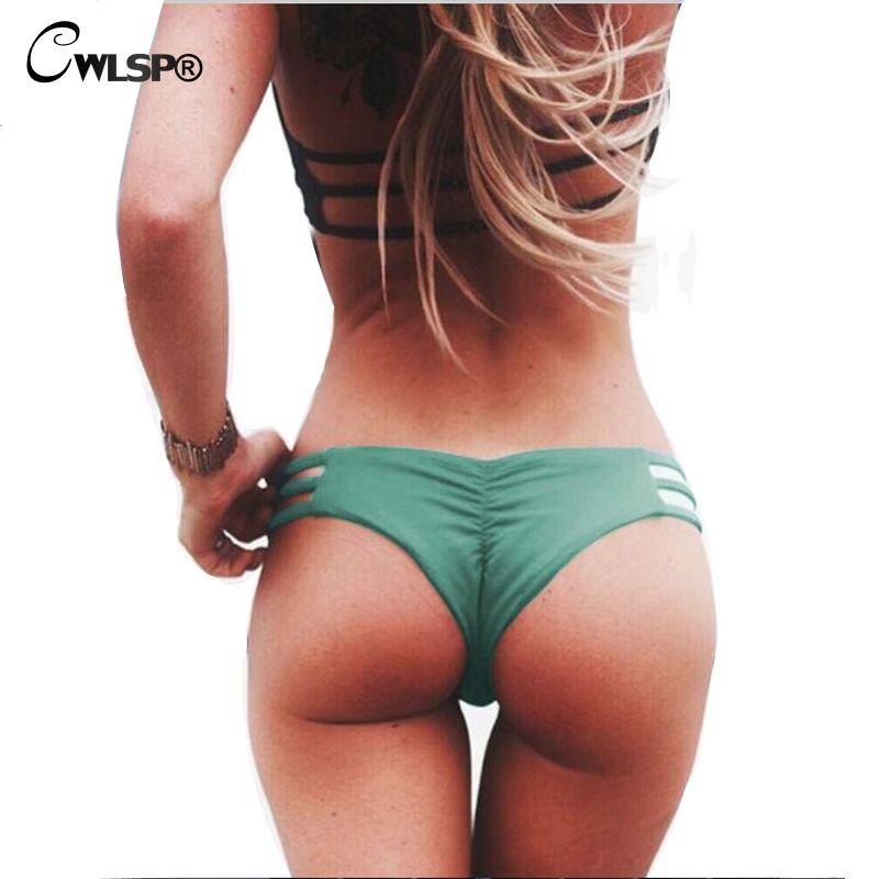 CWLSP Sexy Women Briefs Milk Silk Panties for Women 2017 Summer New Solid Cozy Bikini Underwear Women Beach Panties QZ2170