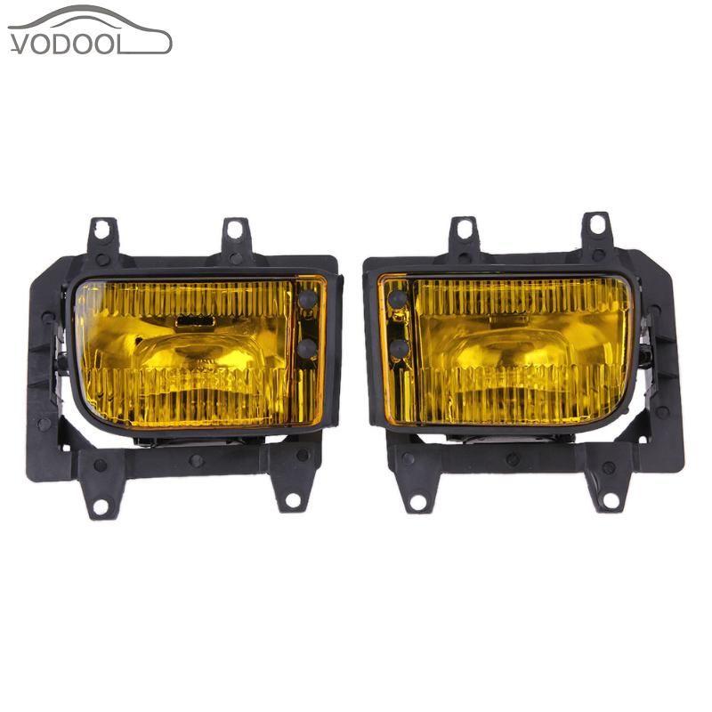 1 Pair Car Front Bumper Yellow LED Fog Lamp Set Automotive Light-emitting Diode Headlight Headlamp for BMW E30 3-Series 82-94