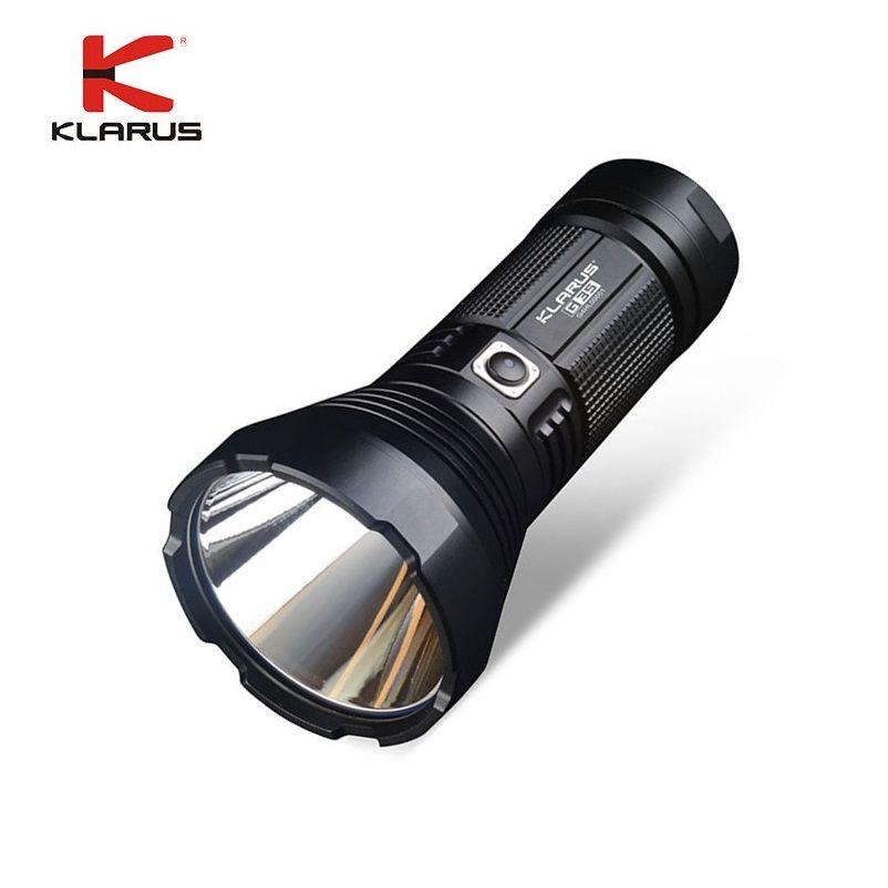 Klarus g35 usb rechargeable led lampe de poche cree xhp35 salut d4 2000 lumens tactique lampe de poche lanterne par 3*16850 batterie