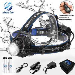 LED headlamp fishing headlight 6000 lumen T6/L2 3 modes Zoomable lamp Waterproof Head Torch flashlight Head lamp use 18650