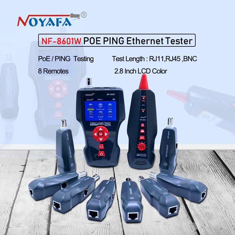 Neue NF-8601W multifunktionale Netzwerkkabel Tester LCD Kabel länge Tester Haltepunkt Tester Englisch version