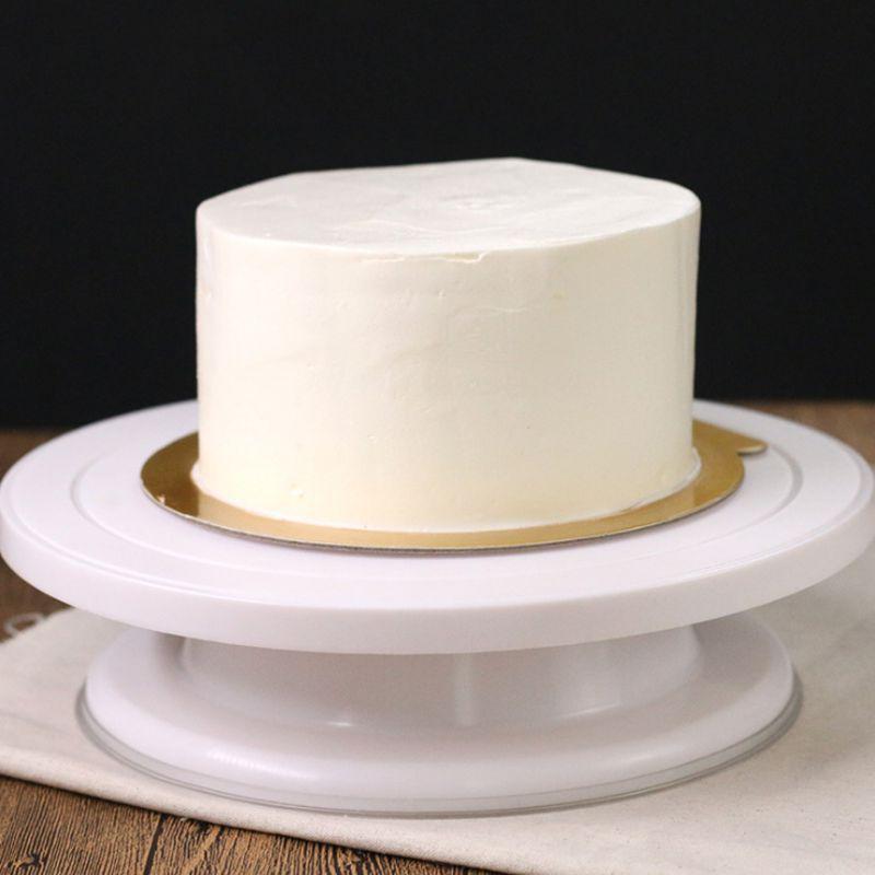 28 CM * 7 CM 360 degrés rotation gâteau décoration Gâteau de plaque tournante Décoration De Stand Plate-Forme Gâteau de Cuisson Outil