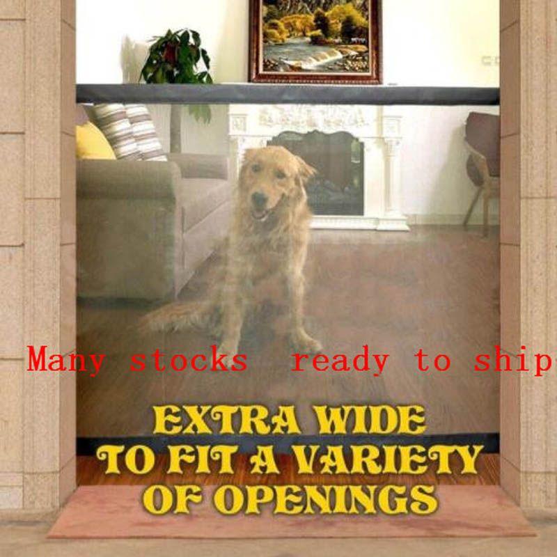 2019 Magic-Gate chien clôtures pour animaux Portable pliant garde sûre Protection intérieure et extérieure sécurité magique porte pour chiens chat Pet