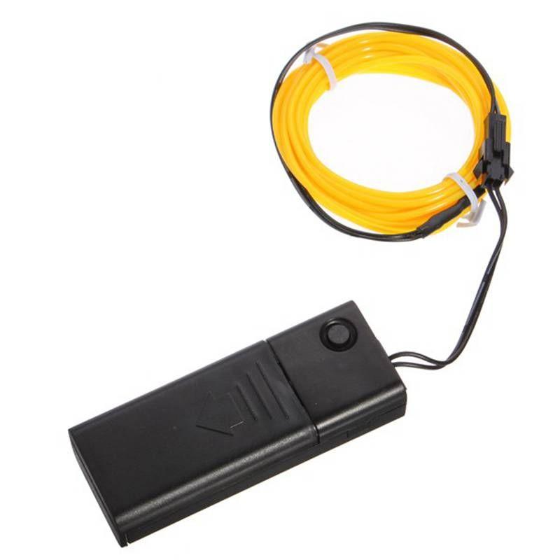 Versprechende 5 Mt Multicolor EL Draht Rohr Seil Batteriebetriebene Flexibles Neonlicht Party Decor Mit Controller