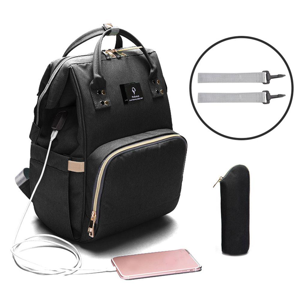 Interface USB momie maternité sac à langer maman sac à dos grande capacité bébé Designer sac d'allaitement voyage sac à dos pour les soins de bébé!