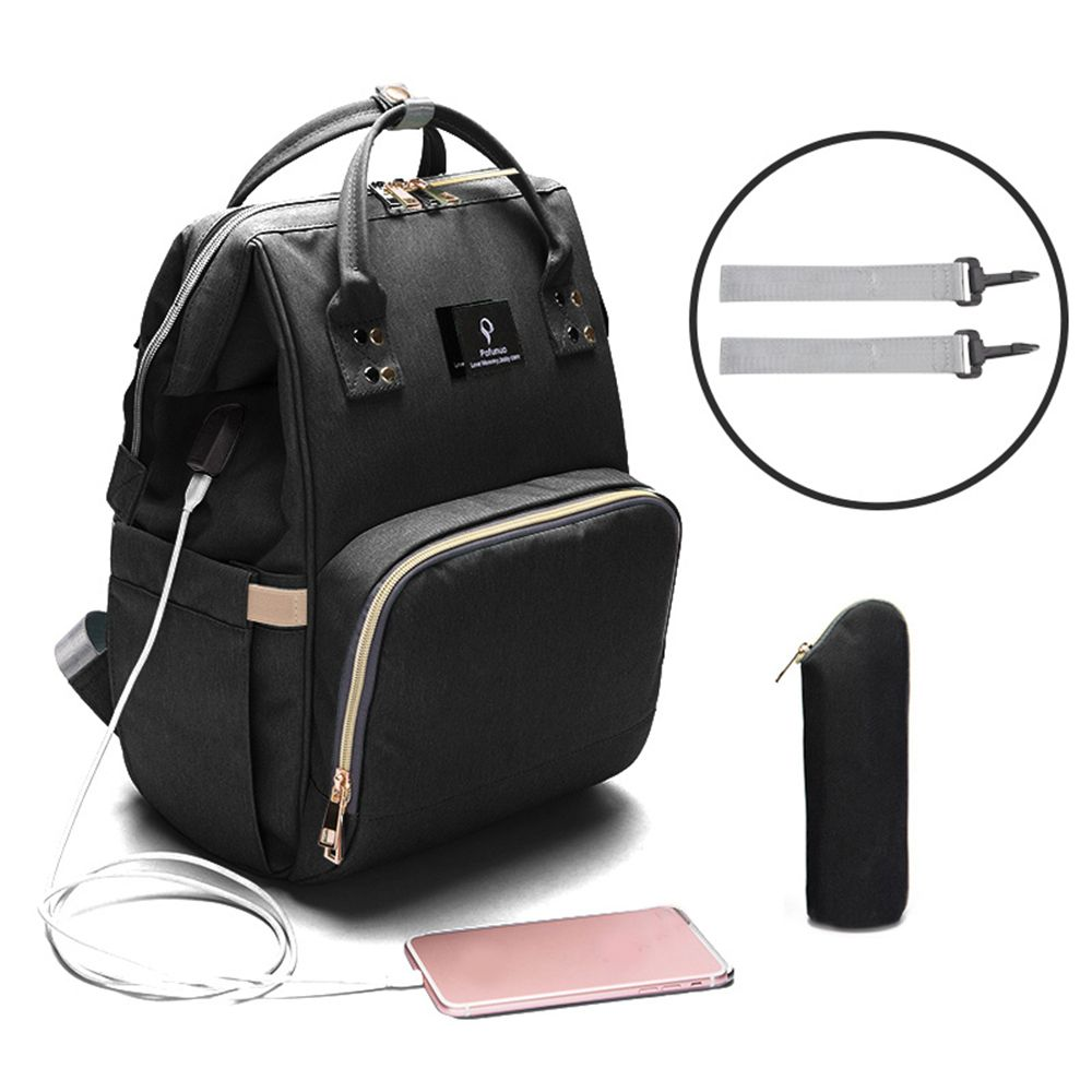 USB Interface Mummy Maternity Diaper Bag Mom Backpack Large Capacity Baby Designer Nursing Bag Travel Backpack For Baby Care !
