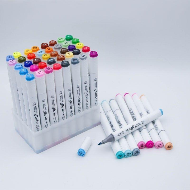 Art marqueur Set huileux à base d'alcool croquis marqueurs pinceau stylo pour 30/40/60/80/168 couleurs artiste dessin Manga Animation Art fournitures