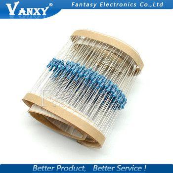 100pcs 1/4W Metal film resistor 1R~2.2M 100R 220R 330R 1K 1.5K 2.2K 3.3K 4.7K 10K 22K 47K 100K 100 220 330 1K5 2K2 3K3 4K7 ohm