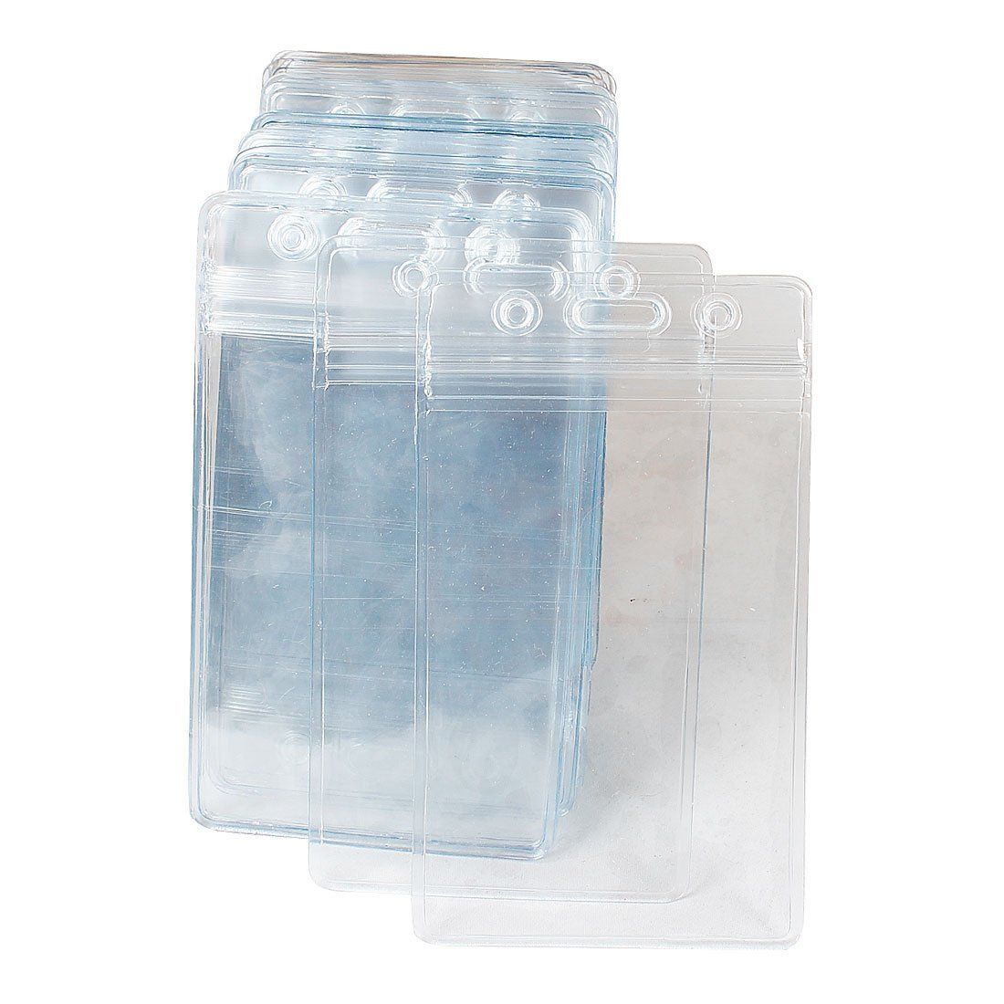 Abordable 50 Pcs En Plastique Transparent Vertical Nom Tag Badge ID Porte-Cartes
