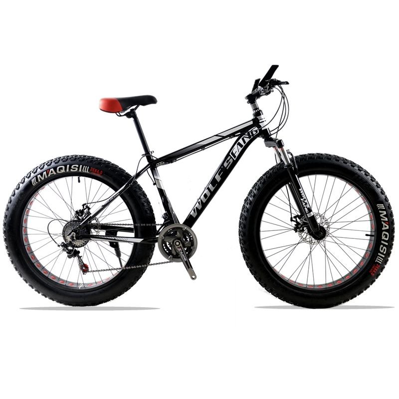 bicycle Mountain Bike road bike Aluminum alloy <font><b>frame</b></font> 26x4.0 21/24speed <font><b>Frame</b></font> Snow Beach Oversized Bicycle Tire Dirt Bikes For