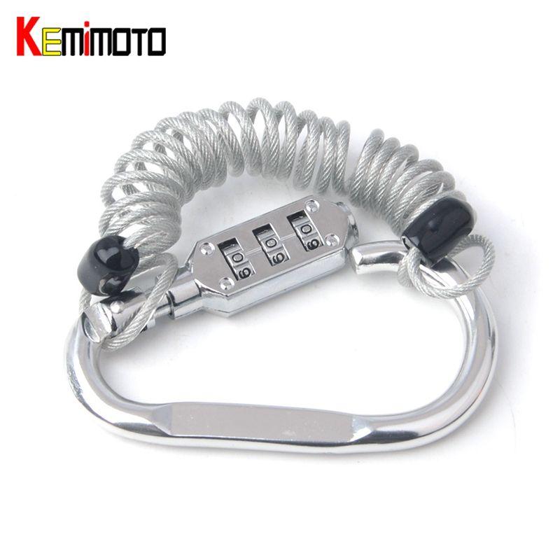 KEMiMOTO Password Code Bike Cable Lock Combination lock Retractable Cycling Helmet Locks Motorcycle Accessories MT07 MT09 TMAX