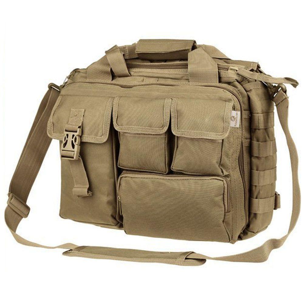 Pro- Multifunction Men canvas Military Nylon Messenger Bag for 14