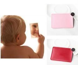 Personnaliser logo New Unbreakable portable incassable en acier inoxydable miroir Cosmétique de maquillage miroir cadeau d'anniversaire