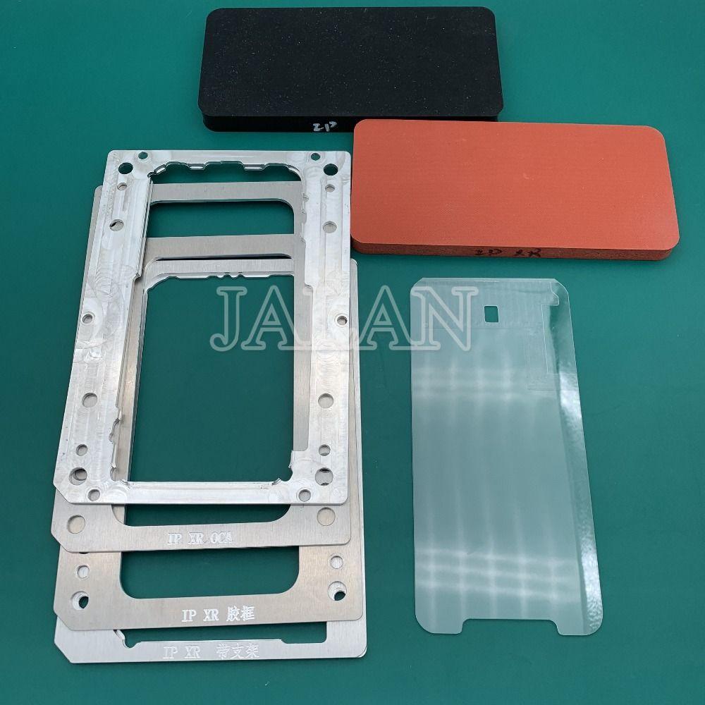 YMJ laminieren form für iphone XR LCD display bildschirm positionierung oca polarisator film glas mit rahmen laminieren reparatur renovieren