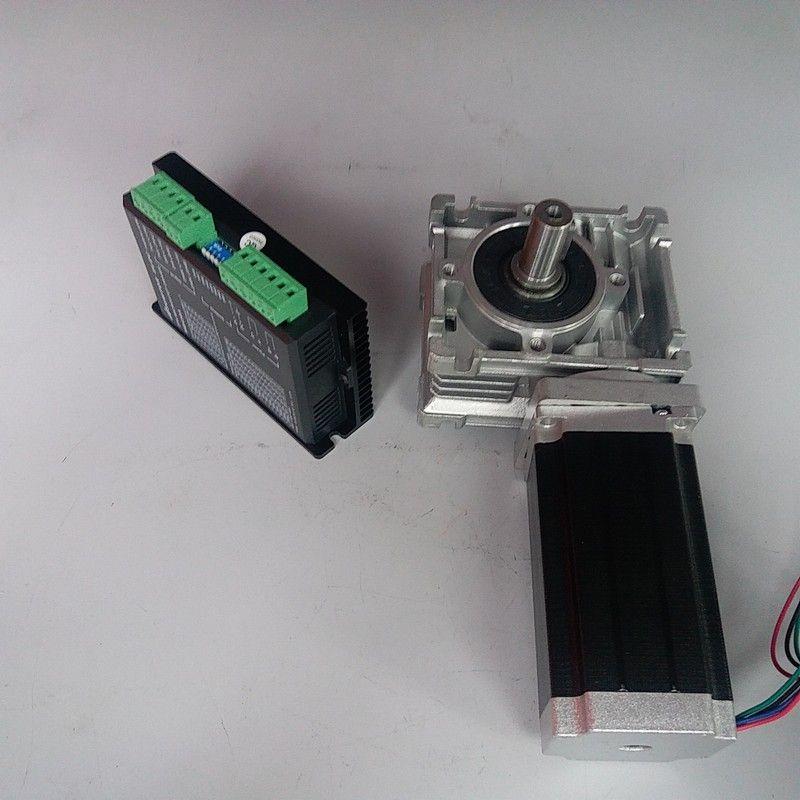 RV040 Wurm Getriebe Speed Reducer RV40 18mm ausgang Schrittmotor Fahrer kit Nema34 12Nm 1700Oz-in 2ph 4 Drähte für CNC Router