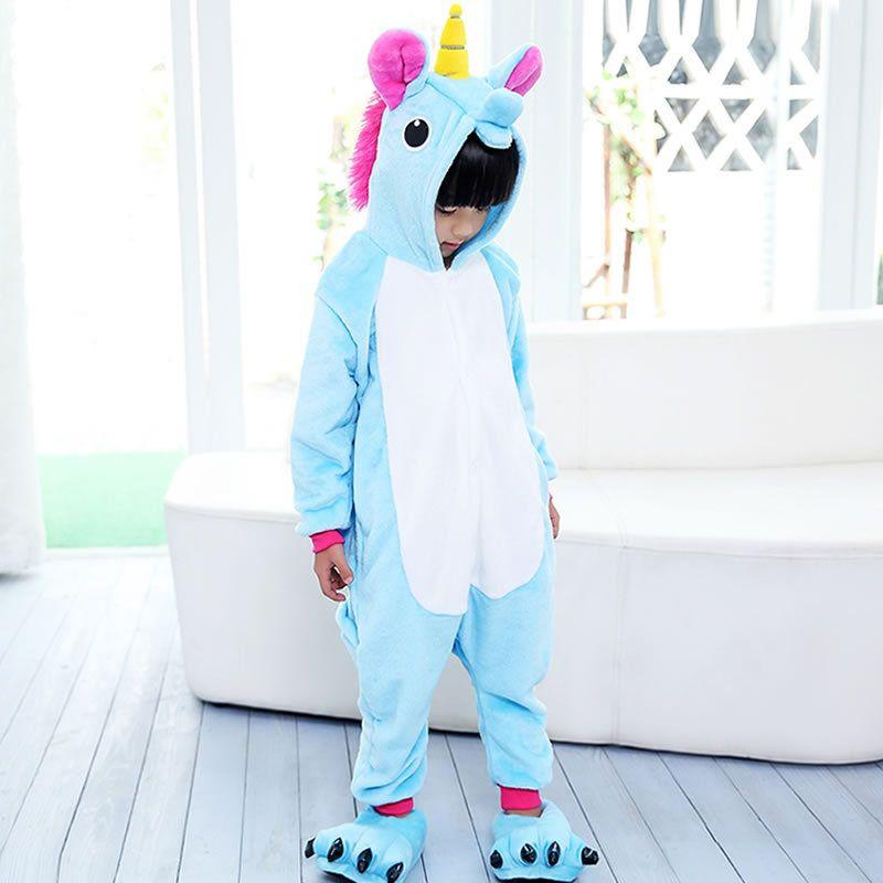 Une Pièce Unisexe Enfants Licorne Pyjamas Enfants Kigurumi Tenma Pyjamas Animaux Costume Anime Cosplay De Nuit D'hiver unicornio