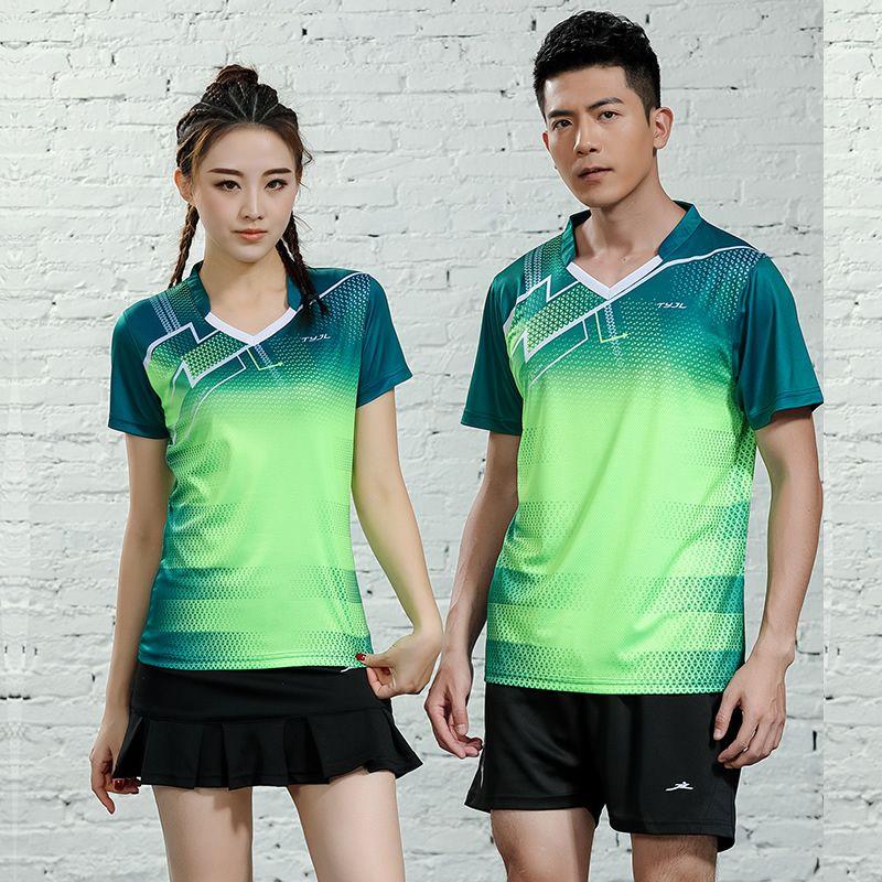 2019 neue Männer & frauen badminton jersey sport badminton training anzug kurzarm federball hemd tischtennis Tops