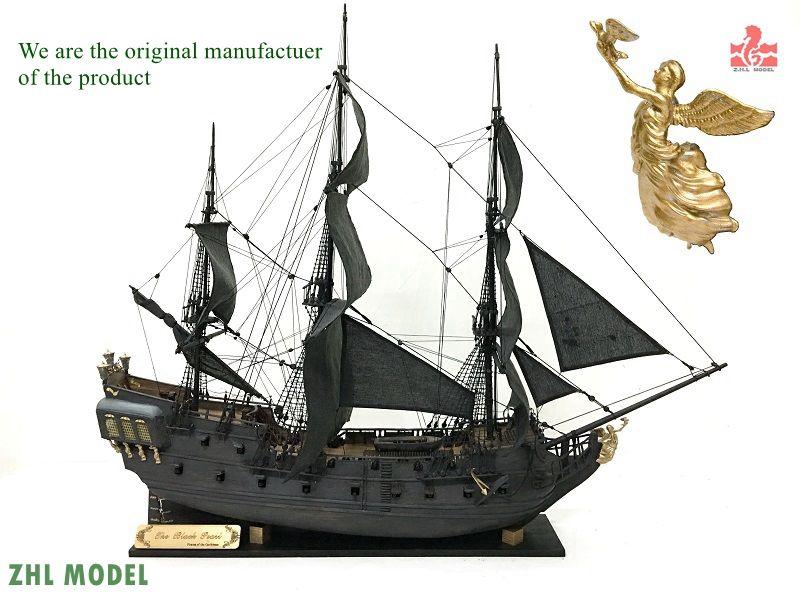 ZHL Black Pearl sailing 1/50 wood ship model kits version Caribbean pirate ship English Manual version 2016