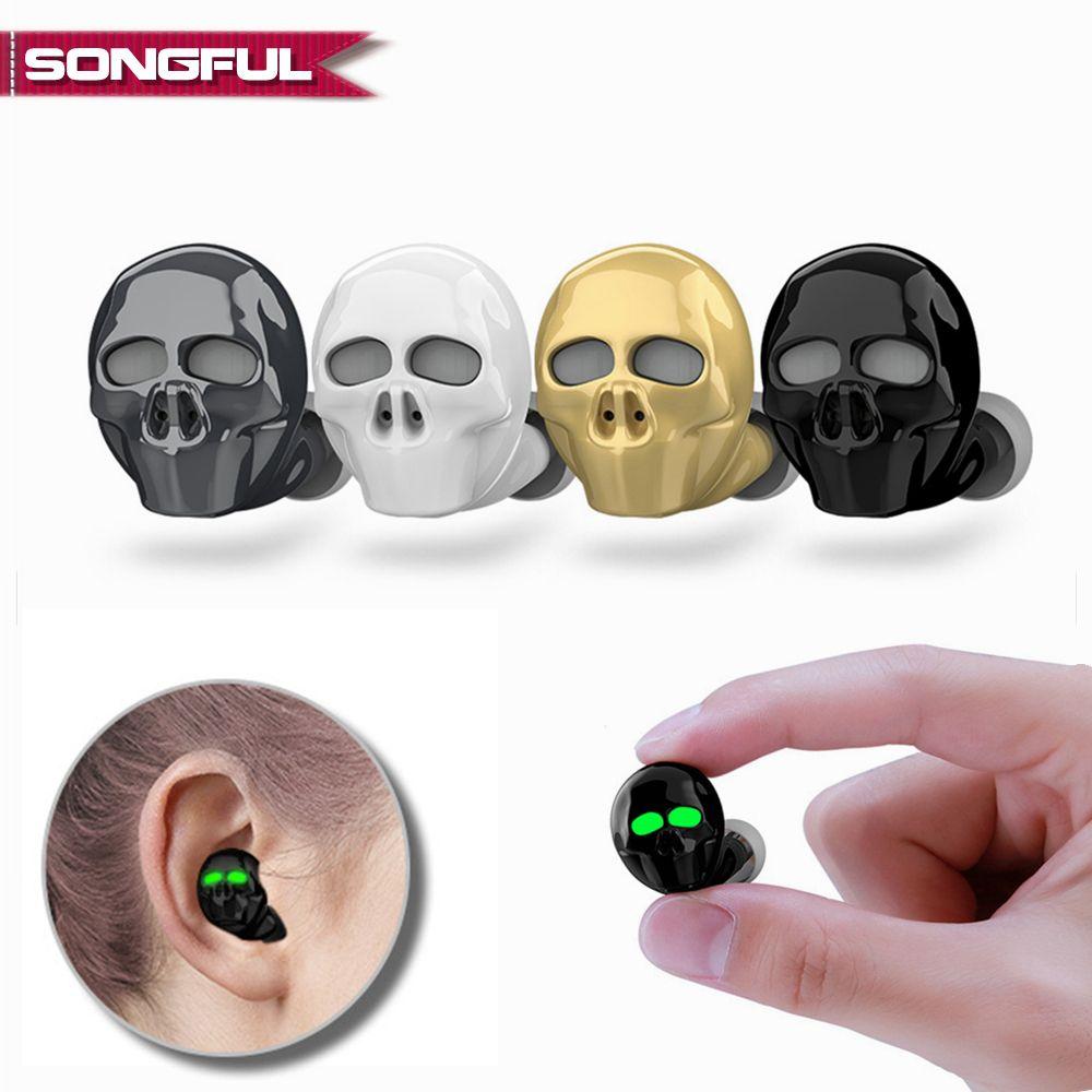 2019 nouveau crâne os Bluetooth écouteur avec Microphone suppression de bruit Hi-Fi mains libres basse stéréo Mini Micro oreillette écouteur